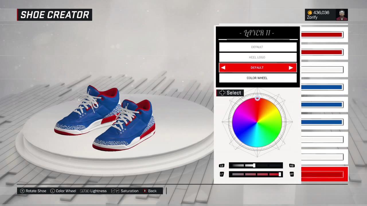 the best attitude aecb7 ee58d NBA 2K17 Shoe Creator - Air Jordan 3 Custom