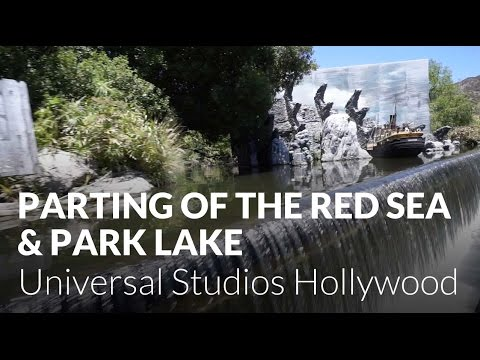 Parting of the Red Sea & Park Lake - Studio Tour at Universal Studios Hollywood