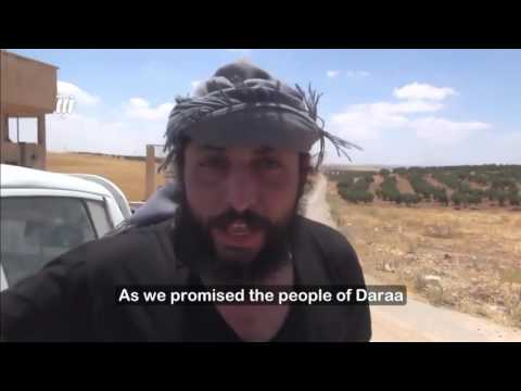 First moment of entry of FSA forces into Airforce Defense Battalion, west Daraa
