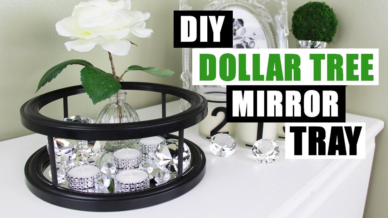 Diy Dollar Tree Mirror Decor Tray Tutorial Vanity