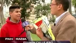 Examen callejero: estudiantes limeños vs. un libro de primaria
