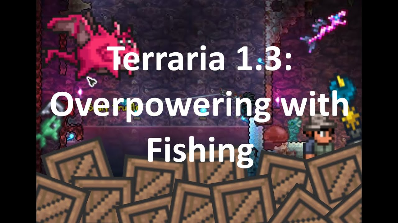 Terraria 1 3 overpowering with fishing youtube for Fish finder terraria