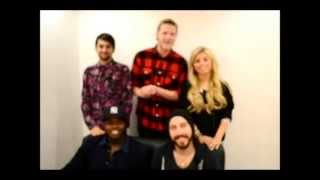 Pentatonix wishes Spin or Bin Music good luck at Singapore Blog Awards 2014