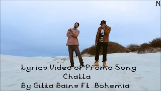 Download Hindi Video Songs - BOHEMIA - Lyrics Video of Promo of 'Challa' By