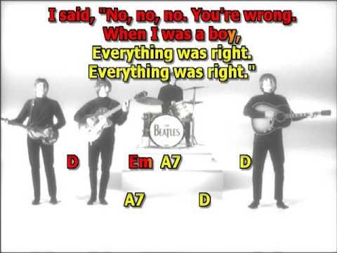 She Said She Said Beatles Best Karaoke Instrumental Lyrics Chords