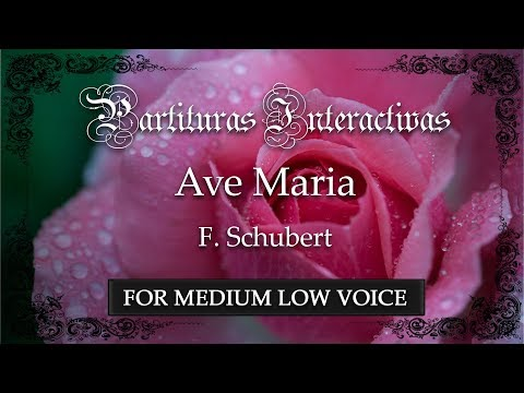 Ave Maria - F. Schubert (Karaoke - Key: G major) (Bonus track for medium voice)