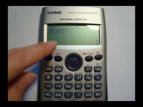 Funciones con calculadora casio fx 570 ES