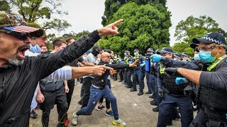 Violent anti-lockdown protests lead to 16 arrests