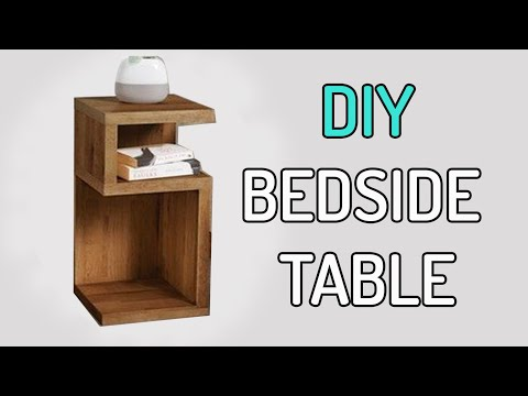 3$ DIY Bedside table design | side coffee table from recycled wood