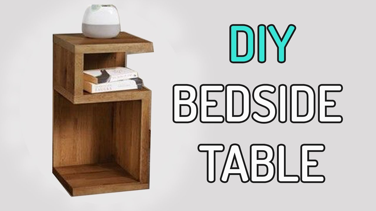 3 Diy Bedside Table Design Side Coffee From Recycled Wood
