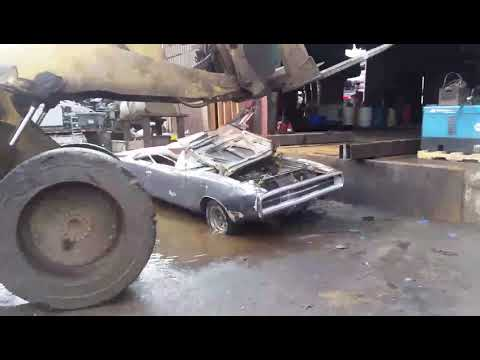 Daniel Gagliardi has his 1970 383 big block Dodge Charger 500 DESTROYED on purpose!