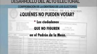 Video de capacitacion de autoridades de mesa Parte 2