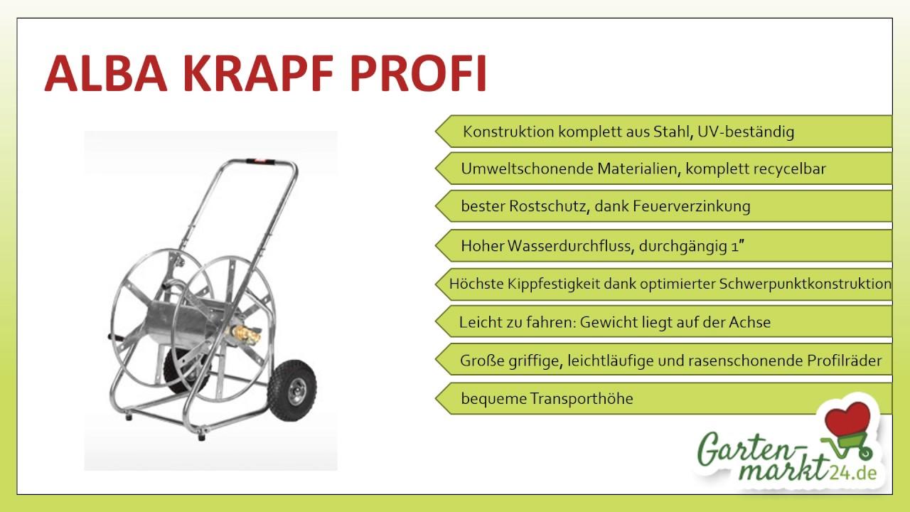 schlauchwagen alba krapf profi - youtube
