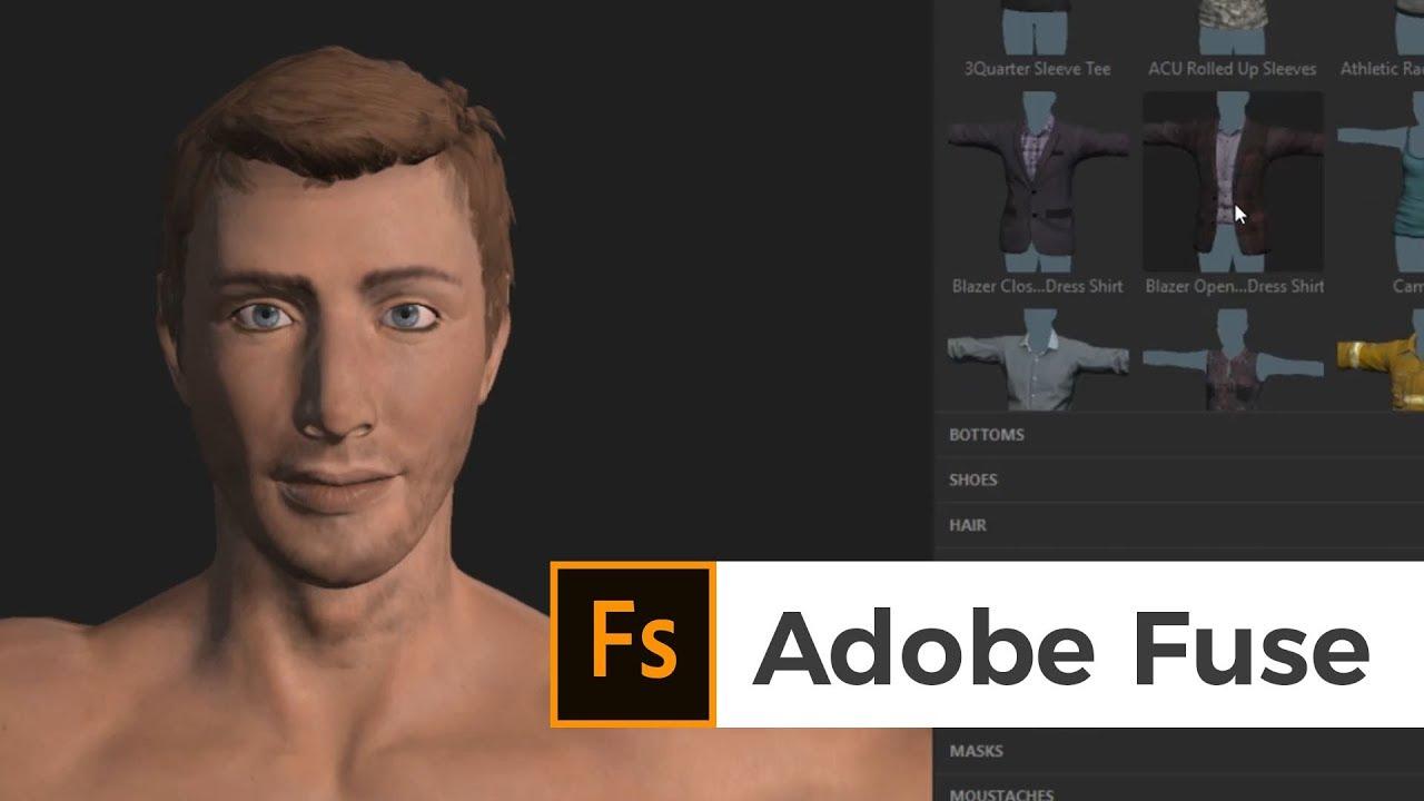 3D Charakter erstellen mit Adobe Fuse CC