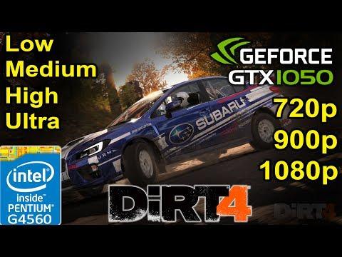 DiRT 4 - GTX 1050 - G4560 | Low - Medium - High - Ultra Settings | 720p - 900p - 1080p Gaming |