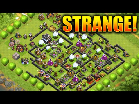 Clash of Clans – TOP 5 Strangest/Glitched Villages!! Weirdest Bases in Clash!! (CoC Weird Villages!)