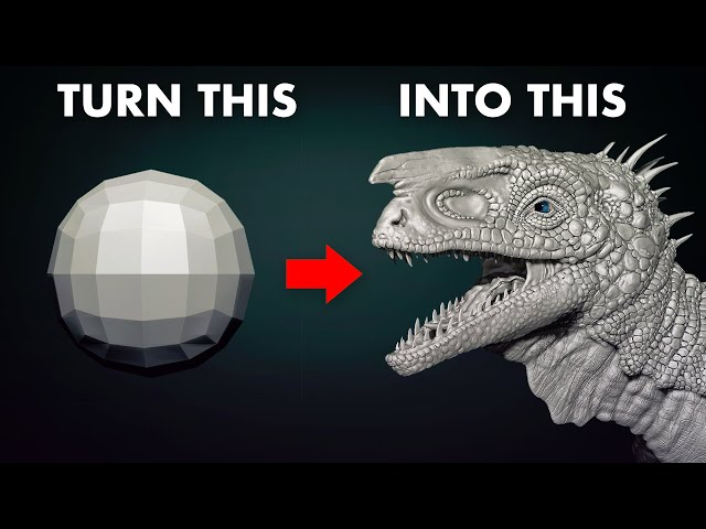 Sculpting a DINOSAUR from a Sphere