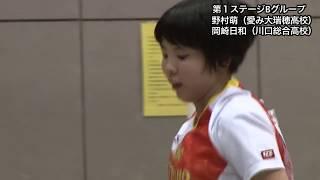 【ダイジェスト】世界ジュニア 女子日本代表選考会 第1ステージ 野村萌vs岡崎日和