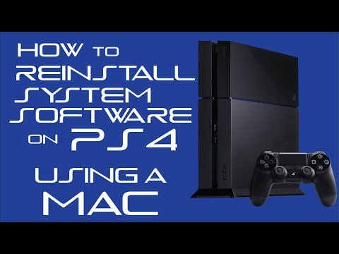 How To Reinstall PS4 System Software Using A Mac