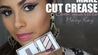 Cut Crease com quarteto Sand Storm Mary Kay