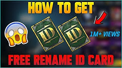 How To Get Free Rename ID Card In Pubg Mobile | 2019 Secret Tricks
