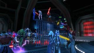 Final moments of SWTOR Beta (Dance Party)