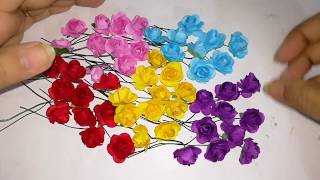 Artificial rose flowers making with easy method