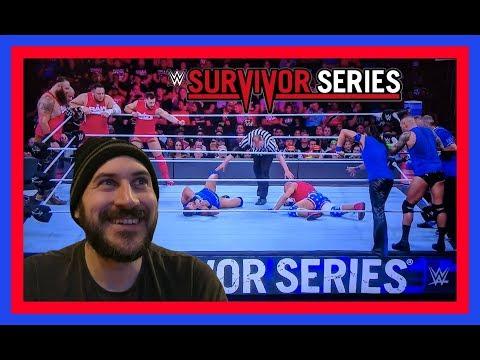 REACTION: TEAM RAW VS TEAM SMACKDOWN LIVE!!! (Men's WWE Survivor Series 11/19/17)