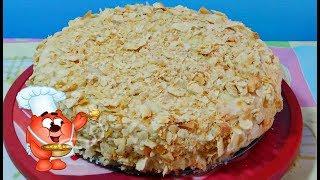Торт наполеон с заварным кремом-классический рецепт