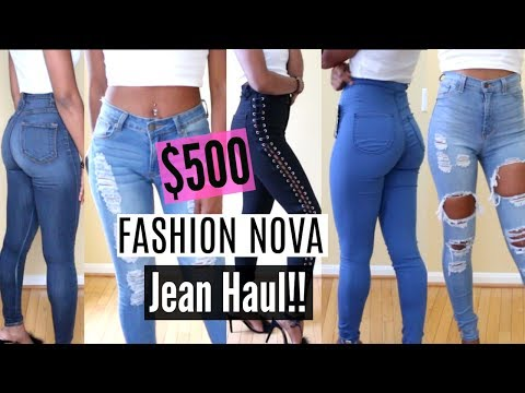 $500?!? FASHION NOVA Jeans!!| Try-On Haul
