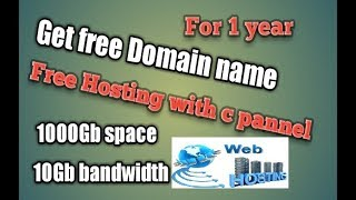 [Hindi] Get FREE Domain Names & Web Hosting with CPanel |100% Working Video | Register Now