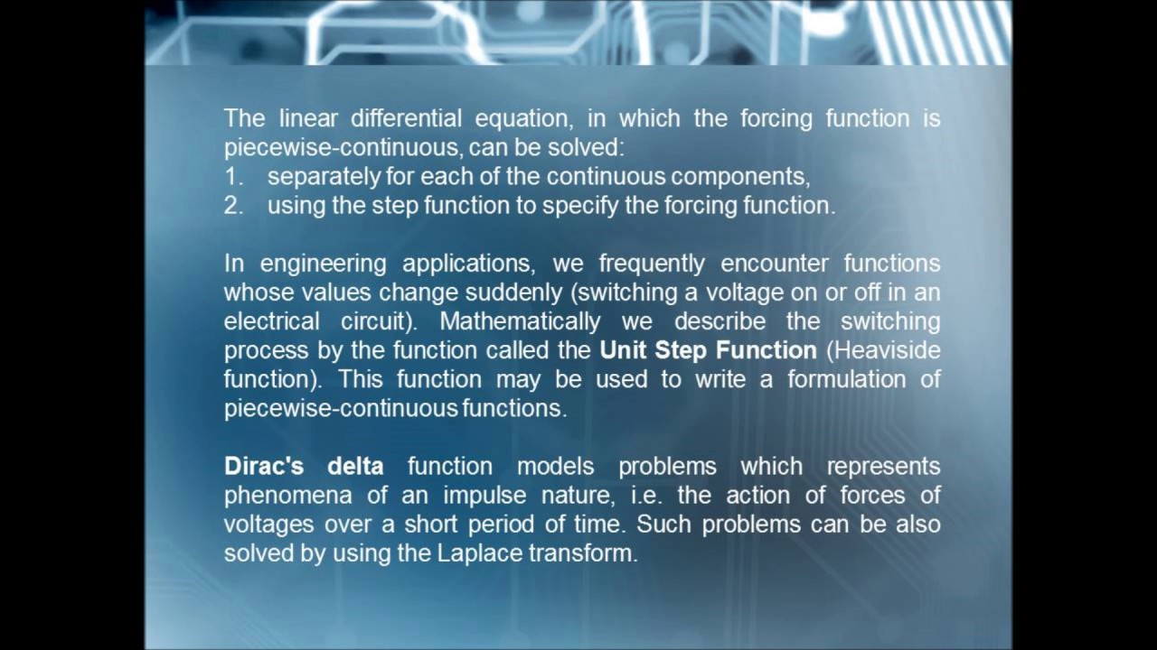 LaPlace Transform and Applications to Electric Circuit - YouTube