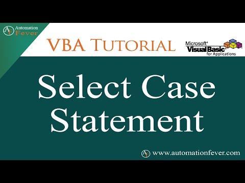 VBA Select Case Statement | Excel VBA Tutorial In Hindi