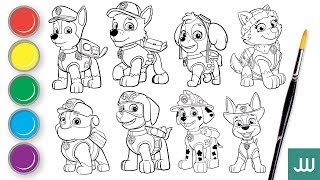 Let's draw all Paw Patrol | Download, print and color | 汪汪隊立大功