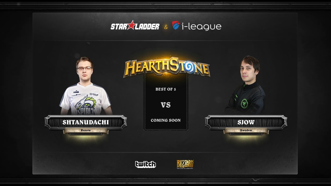 [RU] ShtanUdachi vs SjoW | SL i-League Hearthstone StarSeries Season 3 (18.05.2017)