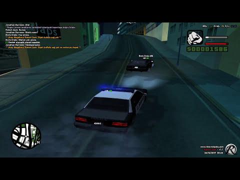 [SA-MP] Rina Roleplay - Polisten kaçmak için FBI aracına binen genç