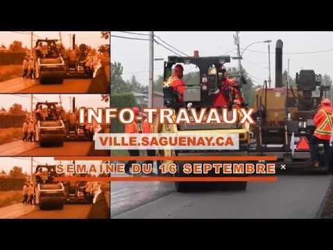 Info-travaux De La Semaine Du 16 Septembre