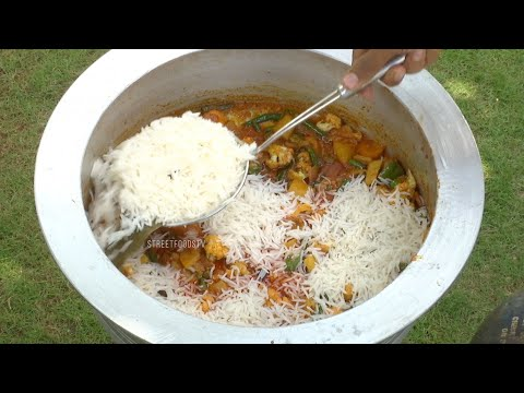 Veg Biryani Recipe | Street Food