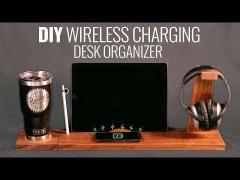How To Make Wireless Charging Desk Organizer