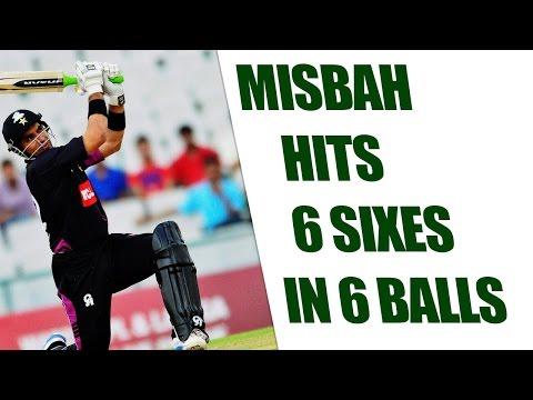 Misbah-ul-Haq hits 6 sixes in 6 balls for Hong Kong Islands | Oneindai News