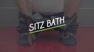 Sitz bath for hemorrhoids