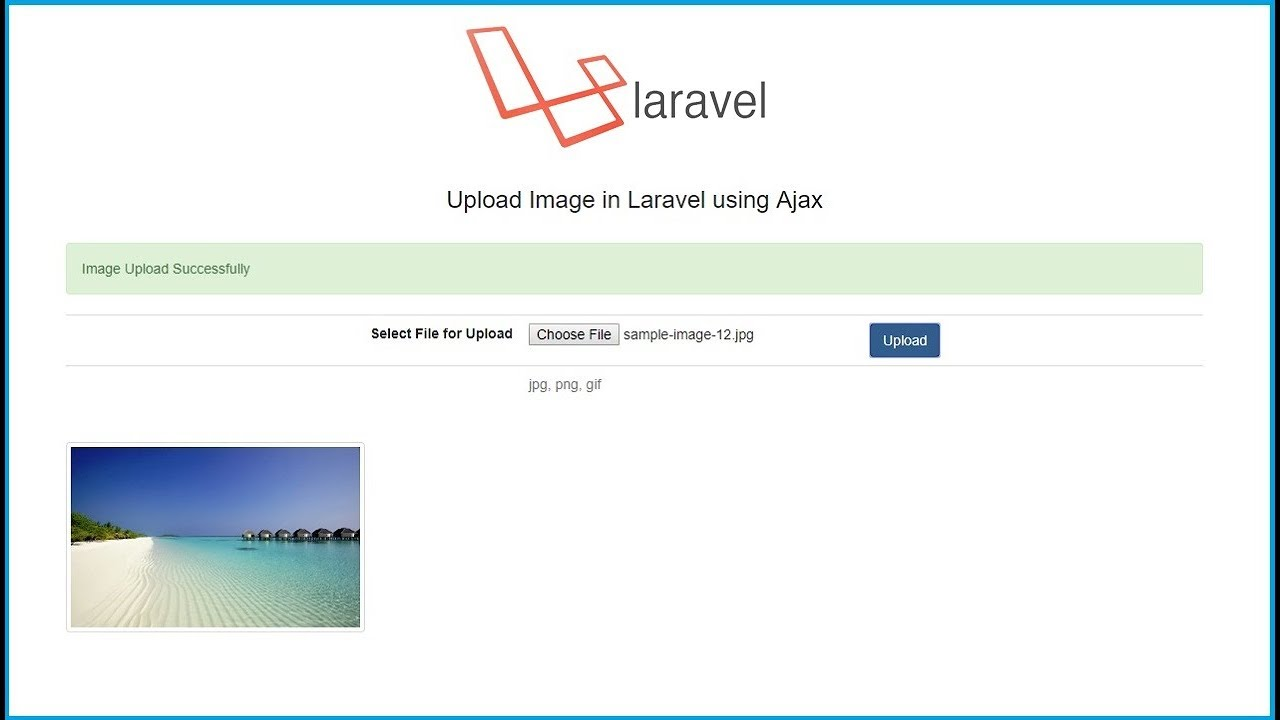 Upload Image in Laravel using Ajax | Webslesson