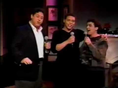 Jason Raize, Max Casella, and Tom Alan Robbins perform