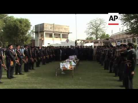 Funerals for victims of suicide attack on paramilitary training centre