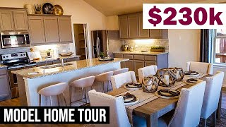 $230,000 Texas Home - Brand New Model Home Tour In Fort Worth, Texas - Amazing Value!