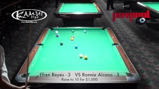 "FINAL MATCH - Efren Reyes Vs. Ronnie Alcano  - ""The Pool Gods Play"""