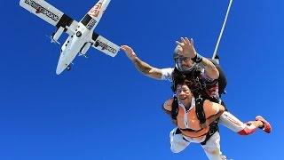 Tandem Skydive with my Mom - 4000m / 13.000 feet above Palm Jumeirah Dubai UAE **Skydive Dubai**