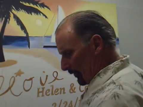 How to oil paint  Sky, Sun,Ocean and Beach area with John LaCroix