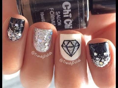 Diamond Nail Art For Short Nails