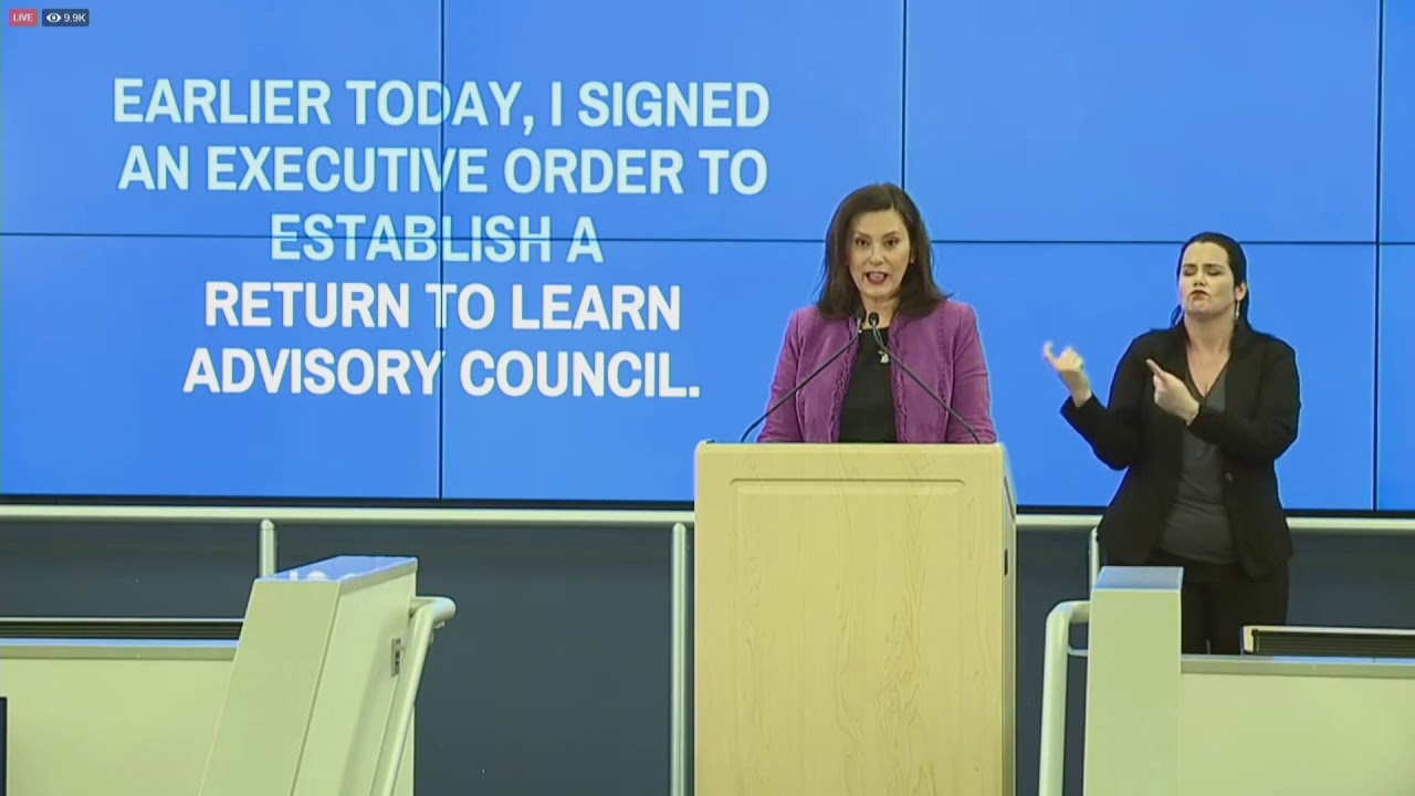 Governor Whitmer Establishes Return To Learn Advisory Council Greater West Bloomfield Civic Center Tv